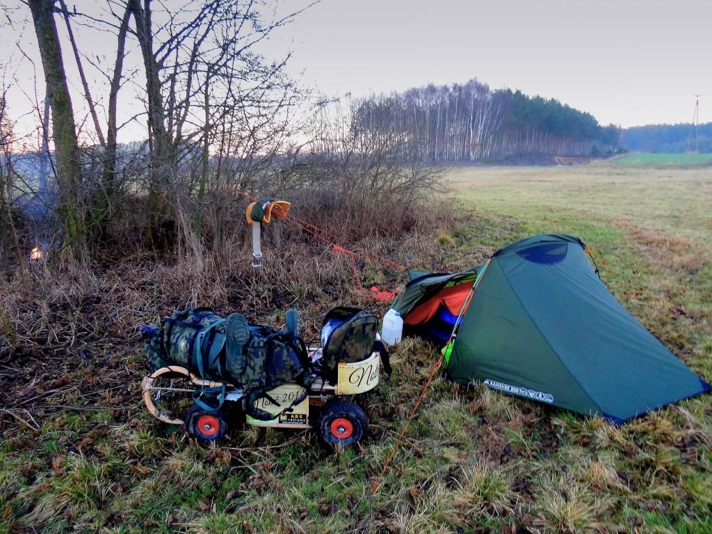 3Moje drugi obozowisko podczas wyprawy Noteć 2014-2